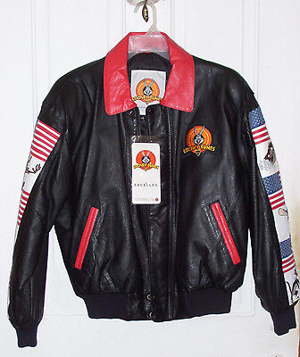Looney Tunes Leather Jacket Style # 0627 (S) 1997 New with Tag