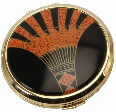 New Stratton Heritage large 75mm convertible powder compact & mirror Art Deco