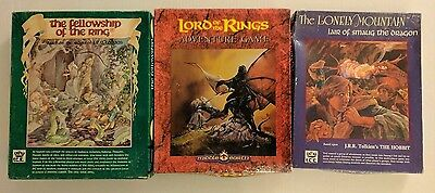 3 I.C.E. LOTR RPG Board Games Fellowship of the Ring Adventure Lonely Mountain