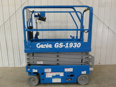 New 2016 Genie Gs1930 19' Electric Slab Scissor Lift Aerial Manlift Platform