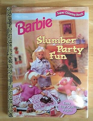Barbie Golden Books (2) Coloring Books & (1) Storybook New For Girls 3+