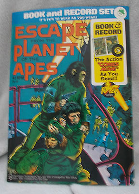 Rare Vintage - Escape From The Planet Of The Apes - Book & Record Set - 1974