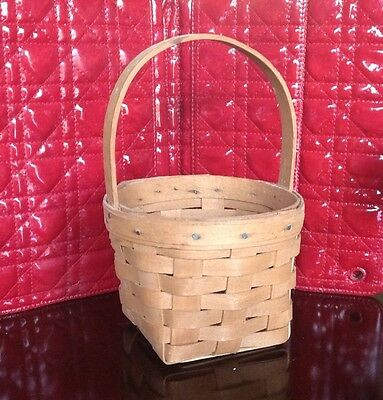Longaberger Small Round Basket Hand Woven In Usa