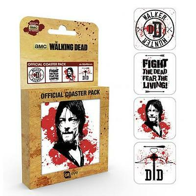 Official Licensed Product AMC The Walking Dead Coaster Set Table Daryl Gift New