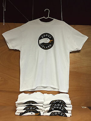 Goose Island Brewing Beer Co White Tee T Shirt - Short Sleeve X Large NEW &  F/S