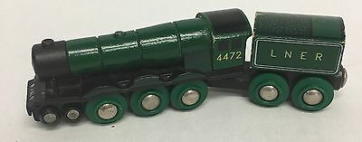 33687 Authentic Brio Wooden Train Flying Scotsman (thoms lionel green)