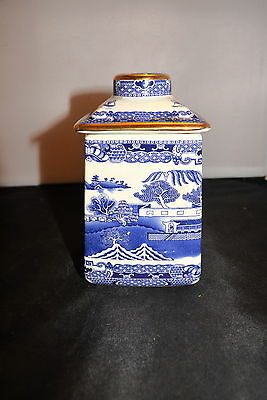 Ringtons Blue And White Maling Tea Caddy Made By Wade #e