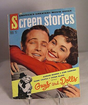 Salvation Army - Dec.1955 SCREEN STORIES featuring GUYS AND DOLLS & PHOTO