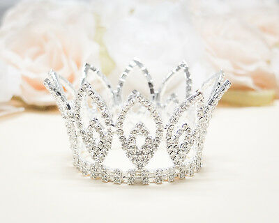 Small Mini Rhinestone Tiara Crown Prom Party Quince Wedding Decor Bridal Party