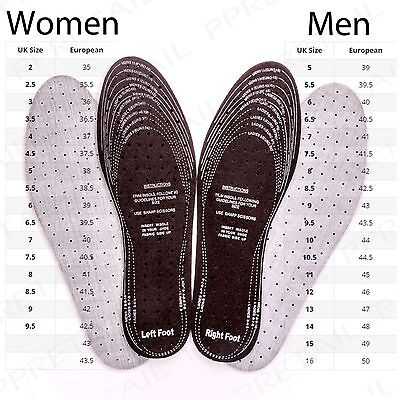8x THICK UNISEX ANTI ODOUR INNER SOLES Fresh Shoe/Trainer/Boot Insoles Size 3-12