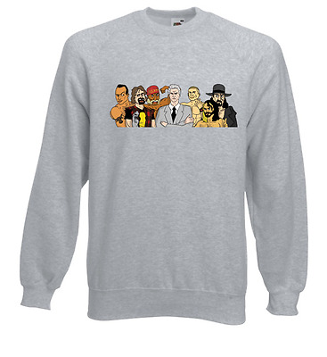 Wrestling Legends Retro Style Wrestling Sweat Shirt Jumper WWF WCW Undertaker