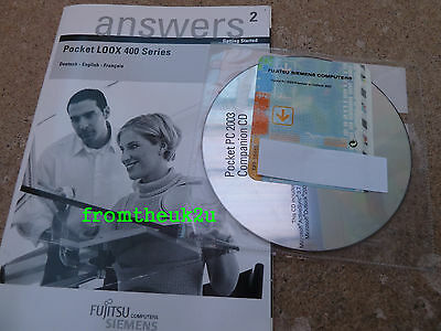 MICROSOFT Activesync OUTLOOK 2002 Disc + Fujitsu Siemens LOOX 400 Users Manual