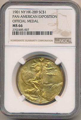 USA So-Called Dollar 1901 NY HK-289 Pan-American Expo Official Medal - NGC MS 66