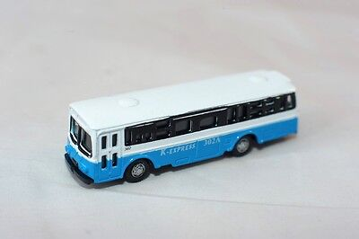 N Scale 1:160 Scale Model Metal Bus K-Express 302A Blue And White