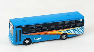 N Scale 1:160 Scale Model Metal Bus H-302 Blue for Wargamming Rail Layout