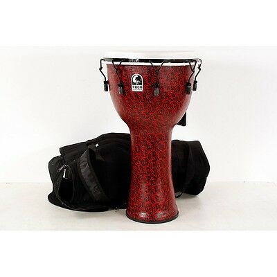 Toca Freestyle II Mechanically-Tuned Djembe 14 in., Red Mask 190839023292