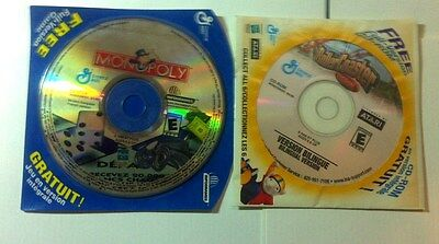 MONOPOLY/ROLLER COASTER TYCOON Windows Computer Cd Game Genreal Mills