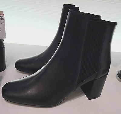 40f59900d78 Zara New High Heel Leather Ankle Boots With Stretch Detail Black 36-41 5100