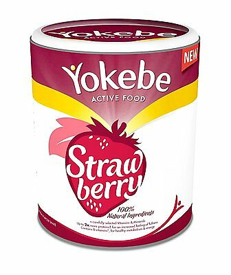 Yokebe Strawberry Weight Loss Shake 9 Portions * Brand New * Fast DELIVERY