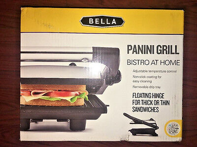 Bella, Panini Grill,14593,  Bistro At Home, Polished Stainless Steel, New!