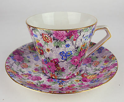 Teacup + Saucer Lord Nelson Marina Chintz vintage England Cup (reduced)