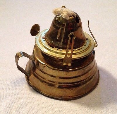 Antique Brass Oil lamp Finger Loop English United States of America