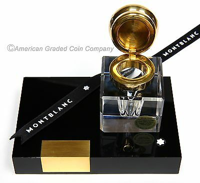 Montblanc Crystal Masterpiece Fountain Pen Inkwell  W. Germany-all  Labels on!!