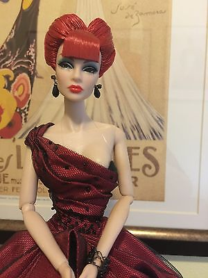 Fashion Royalty The Red Queen Tatyana Doll & Stand, No Box