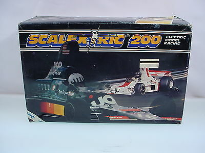 Scalextric 200 Slot Car Set Scalextric Electric Model Racing Formula Cars