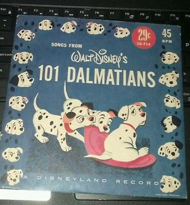 Songs from Walt Disney's 101 Dalmations S45 RPM Record  1960's