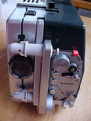 BAUER T1S Super 8mm Movie Projector w/ 1:1.4 / 18-30 Lens - For Parts or Repair