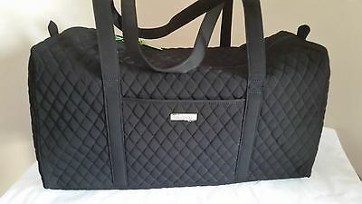 Vera Bradley Microfiber LARGE DUFFEL BAG Carry On Luggage NEW Classic Black