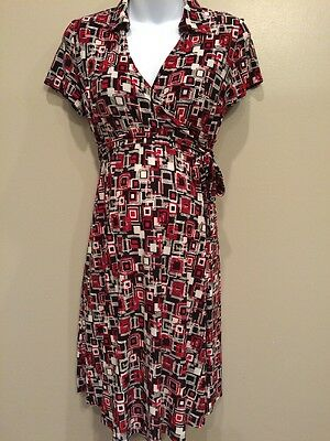 Oh Baby Small Nursing Maternity Dress With Tie EUC