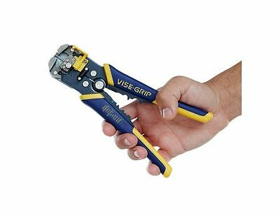 Irwin Grip Vise Wire Crimpe Cable Stripper Cutter Self Adjusting Tool (2078300)