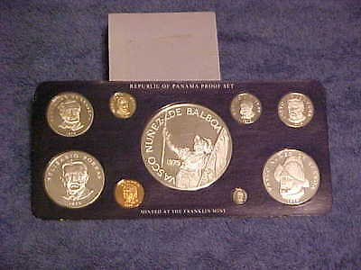 1979 Panama Proof Coin Set 9 Coins