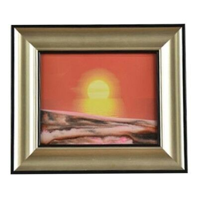 3D Artisitc Moving Sand Glass Art Picture Frame Wall Hanging   red sun rises