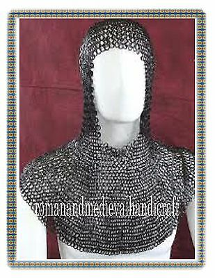 10Mm-Medieval-Chainmail-Hood-Coif- Round Revited With Warser