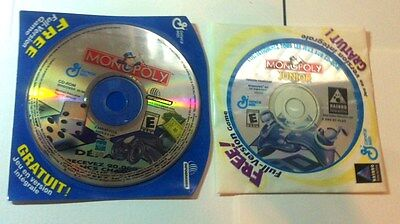 MONOPOLY Lot Of 2 Windows Computer Cd Game General Mills Hasbro