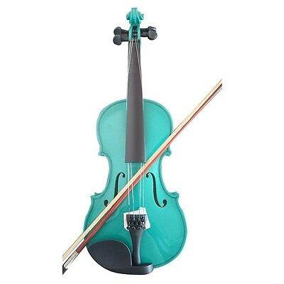 Student Acoustic Violin Full 4/4 Maple Spruce with Case Bow Rosin Green