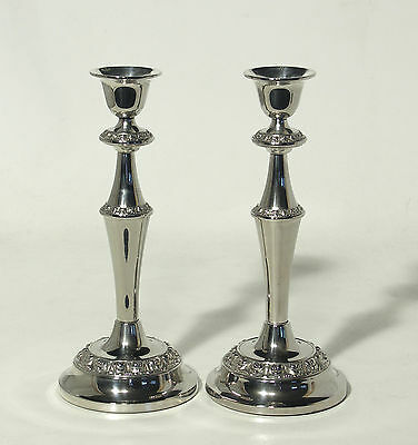 Vintage Pair of Ianthe Silver plate Candlesticks
