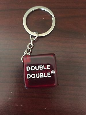 In N Out Burger Dice Keychain - Double Double - Fast Food - California - CA