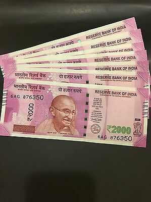 India New 2000 Rupee Notes