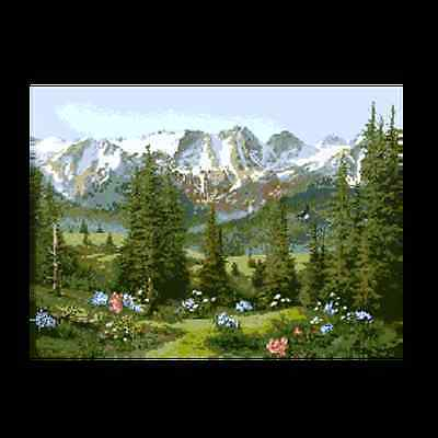 Color printed tapestry canvas  MAGNIFICENT Mountains Options 1-7