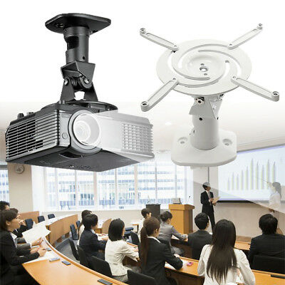 Universal Projector Ceiling Wall Mount Swivel Bracket Support up to 13.6kg/30lbs