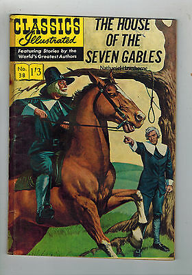 CLASSICS ILLUSTRATED COMIC No. 38 House of the Seven Gables  HRN 126