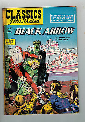 CLASSICS ILLUSTRATED COMIC No. 31 The Black Arrow HRN 125