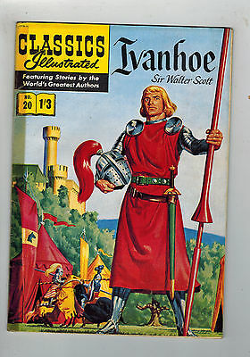 CLASSICS ILLUSTRATED COMIC No. 20 Ivanhoe HRN 126