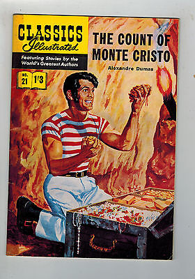 CLASSICS ILLUSTRATED COMIC No. 21 Count of Monte Cristo HRN 126