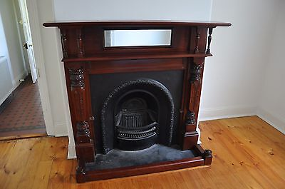 Fireplace Surround, Mantle and Insert