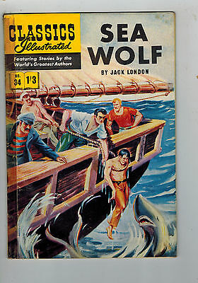 CLASSICS ILLUSTRATED COMIC No. 34 Sea Wolf HRN 126